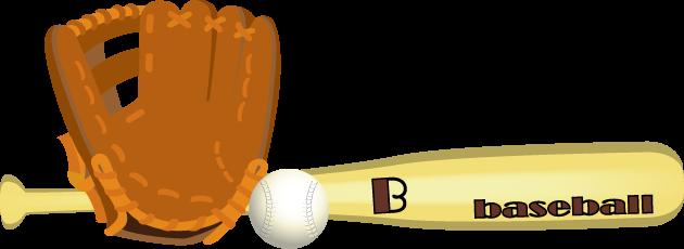 12月26日プロ野球誕生の日のイラスト-グローブとバット