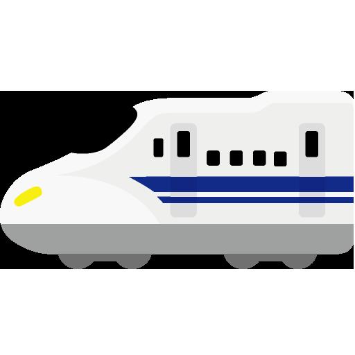 N700系新幹線のイラストアイコン