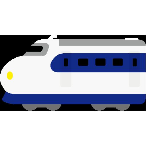 0系新幹線のイラストアイコン