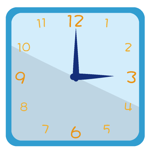 掛け時計のイラスト