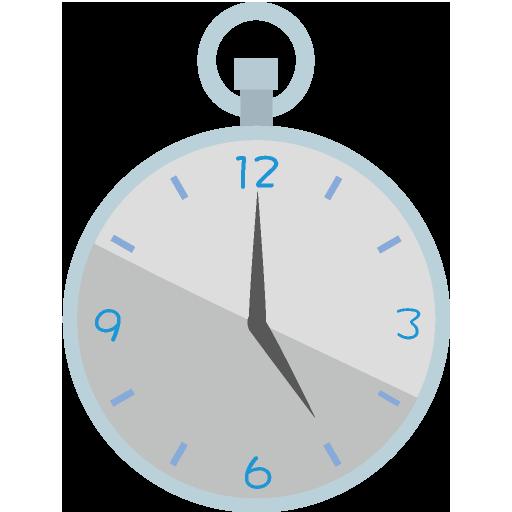 懐中時計のイラスト