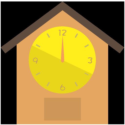 ハト時計のイラスト
