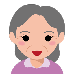 顔アイコン4no01 高齢女性 ビジソザ