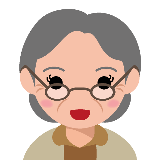 メガネをかけた丸顔の高齢女性