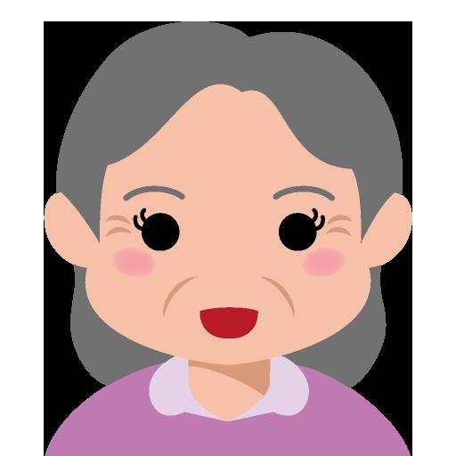 穏やかな顔をした小太りの高齢女性