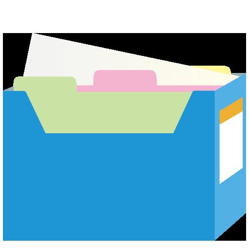 ファイルボックスのイラスト