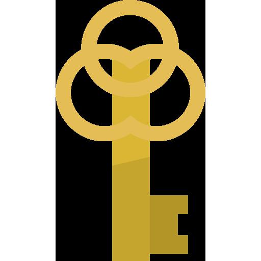 レトロな鍵のイラスト