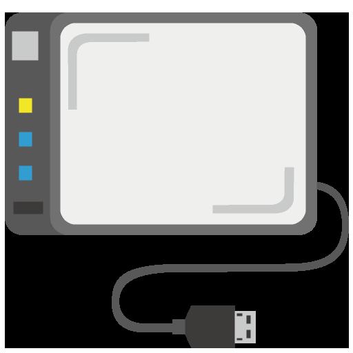 外付けHDDのイラスト