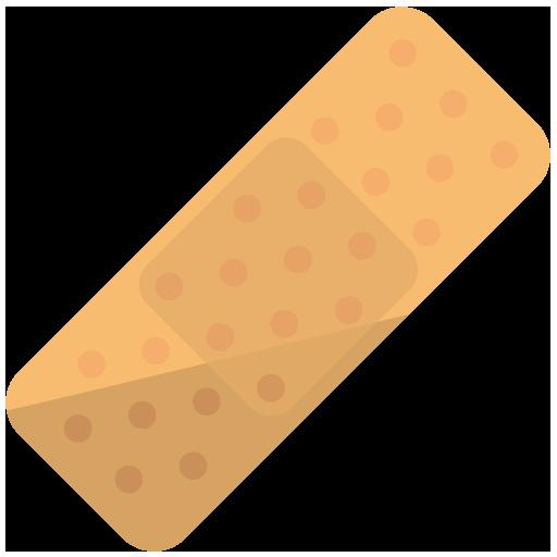 傷テープのイラスト