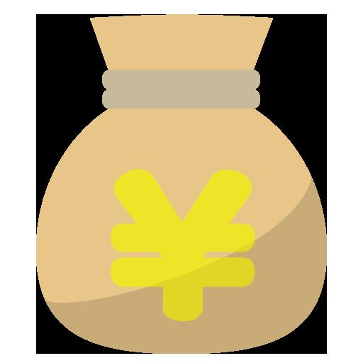 現金袋のイラスト