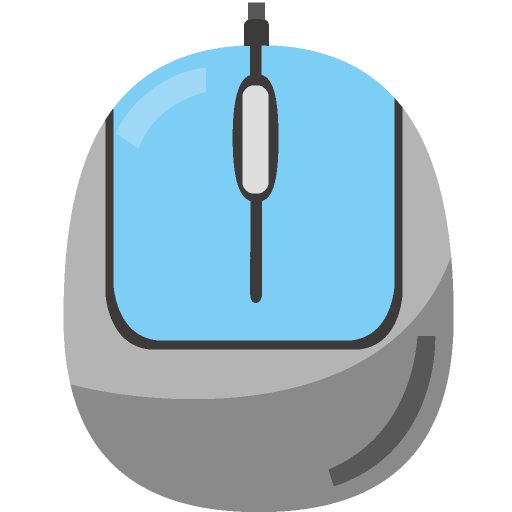 有線マウスのイラスト
