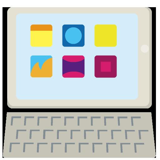 タブレットパソコンのイラスト
