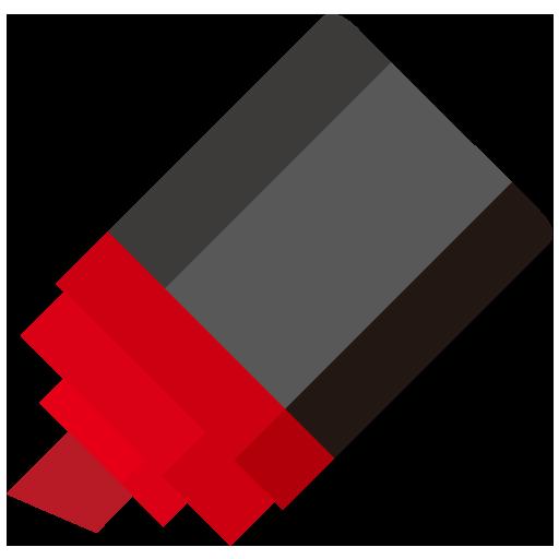 赤マーカーのイラスト