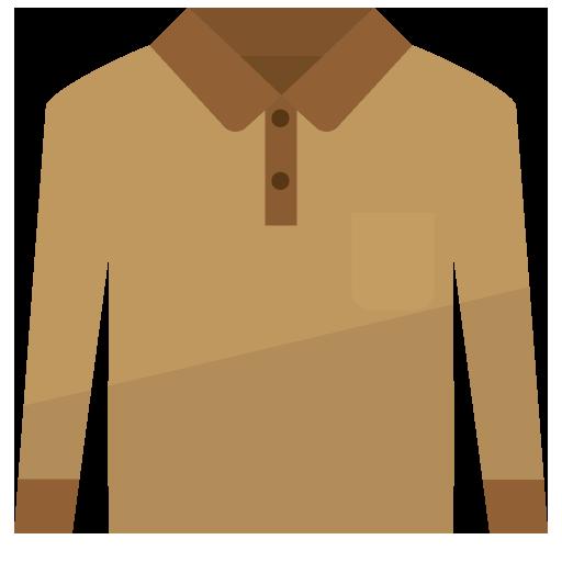長袖ポロシャツのイラスト