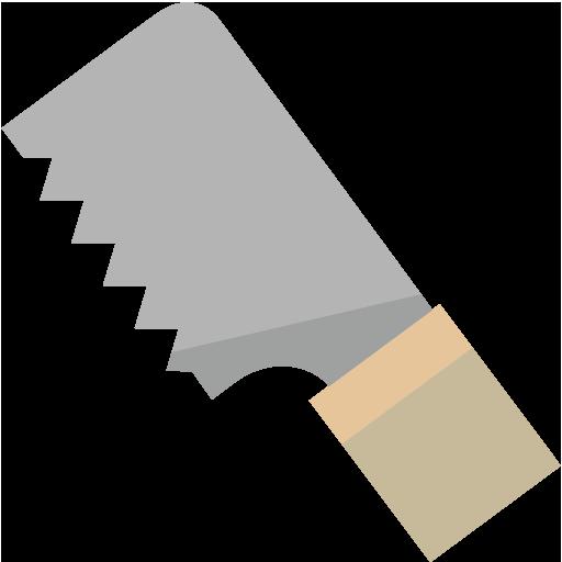 片刃のこぎりのイラスト