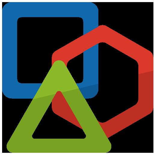 三角や四角など図形のパズル玩具のイラスト