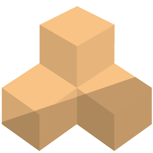 立方体の積み木のイラスト