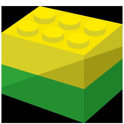 2つをくっつけたブロックのイラスト