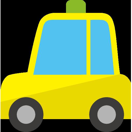 タクシー正面のイラスト