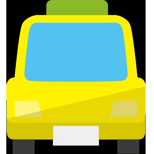 タクシー側面のイラスト