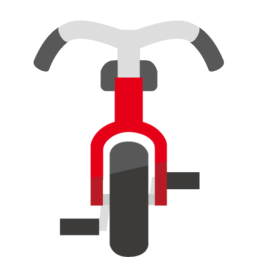自転車正面のイラスト