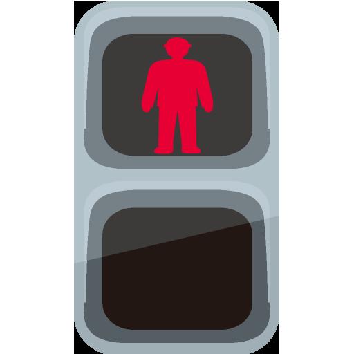 歩行者用信号機のイラスト