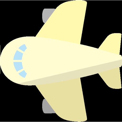 飛行機上面のイラスト