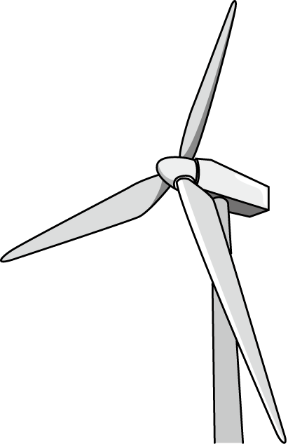 風力発電機のイラスト