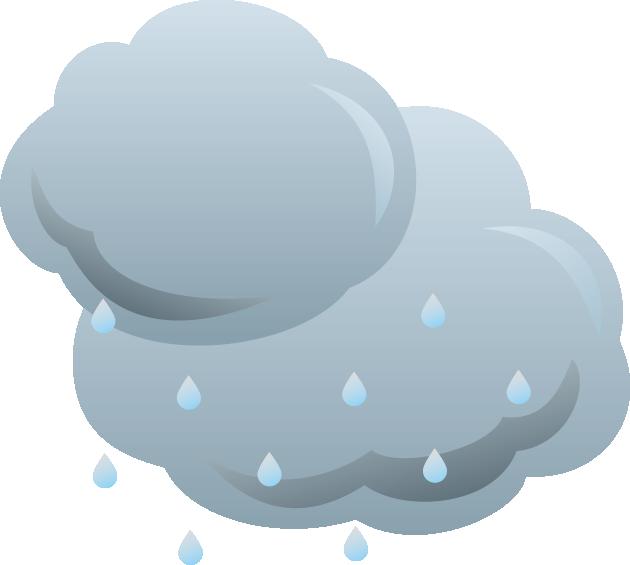 雲と雨粒のイラスト