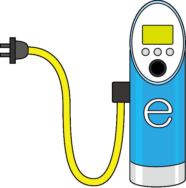 充電スタンドのイラスト