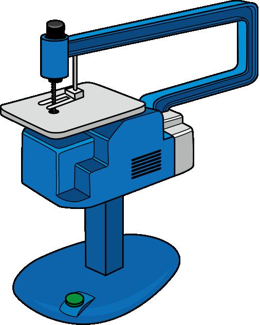 電動糸鋸のイラスト