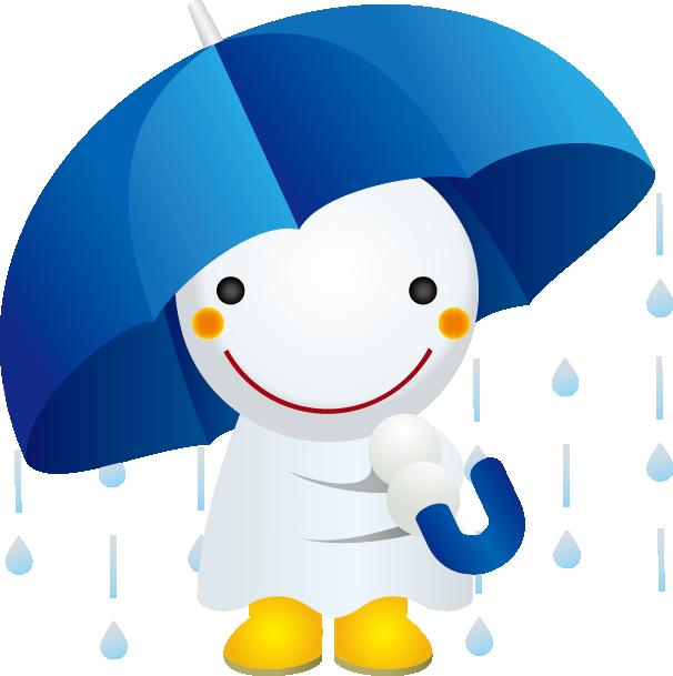 傘とてるてる坊主
