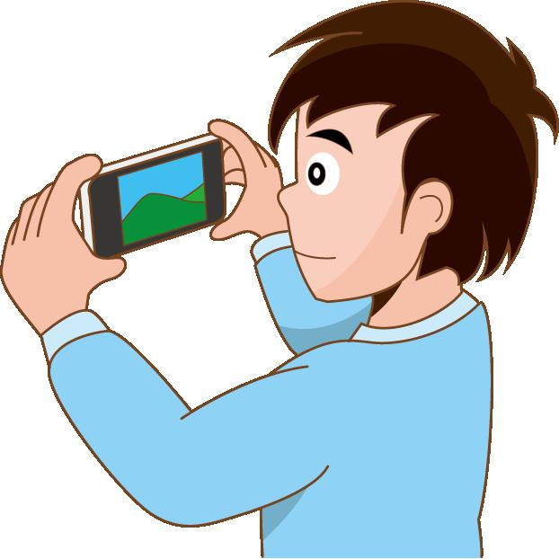 カメラ機能のイラスト