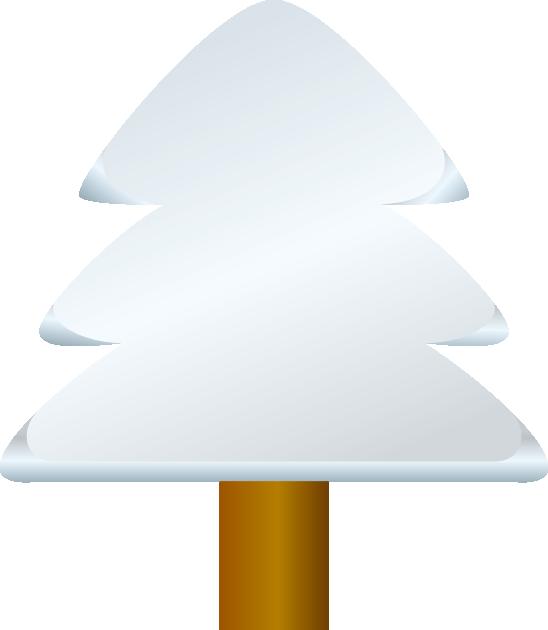 木と雪のイラスト