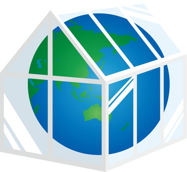 温室の中の地球のイラスト