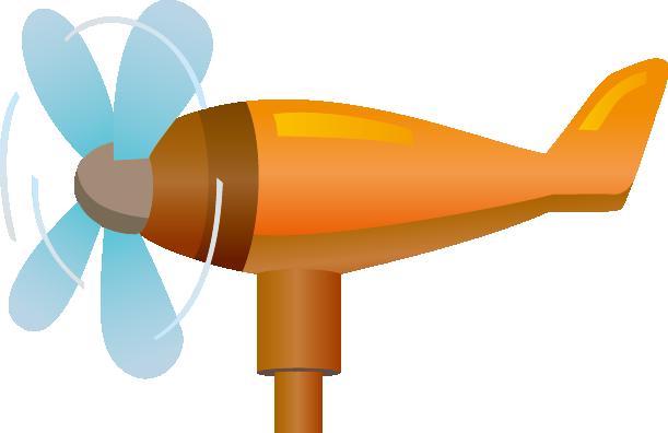 プロペラ風速計のイラスト
