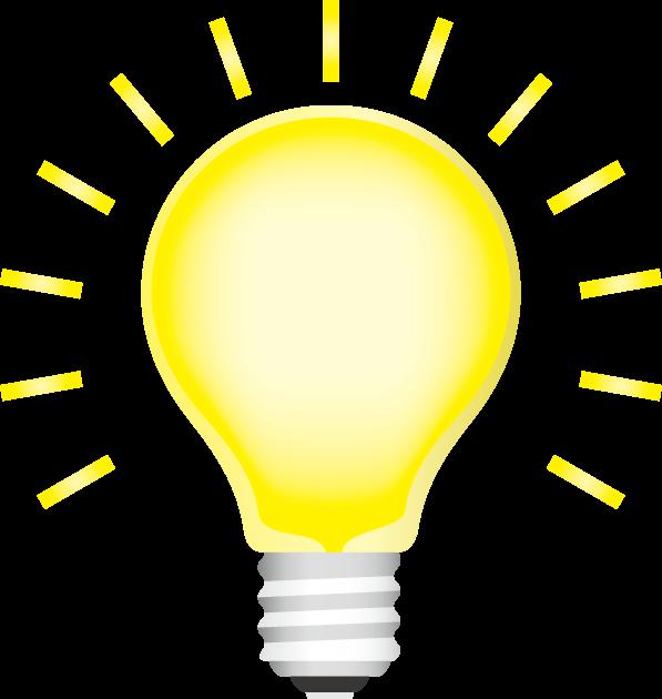 電球の輝きで表現したアイディア