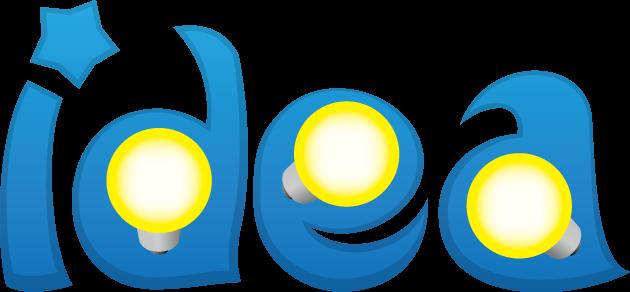 白熱球とideaの文字