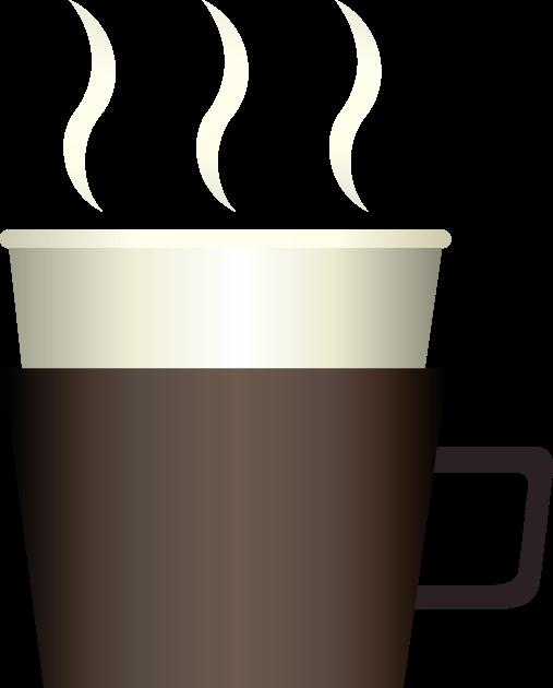 湯気の立ち上るコーヒー