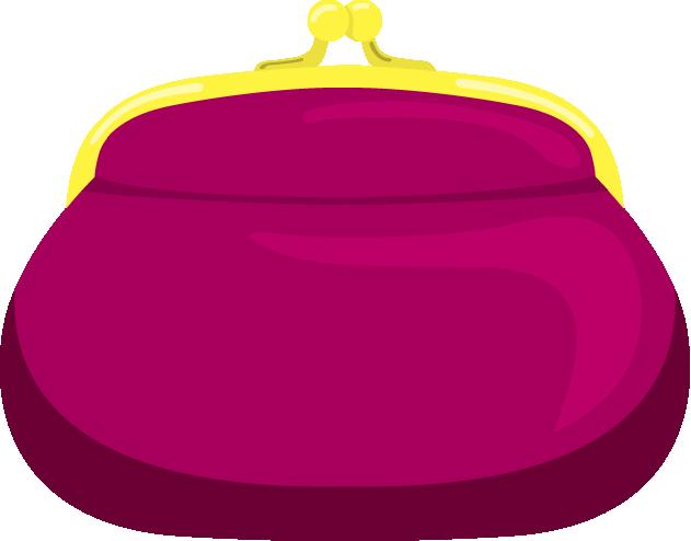 赤紫色のがま口財布