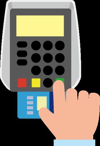 クレジットカードの暗証番号入力