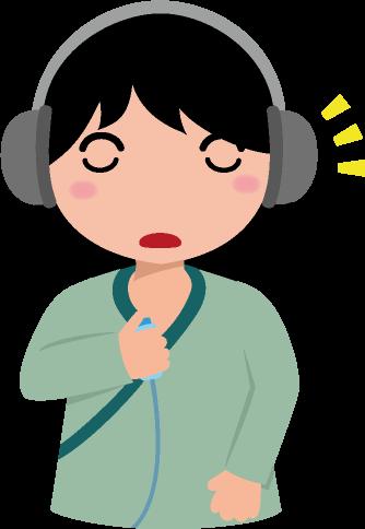 聴力検査のイラスト
