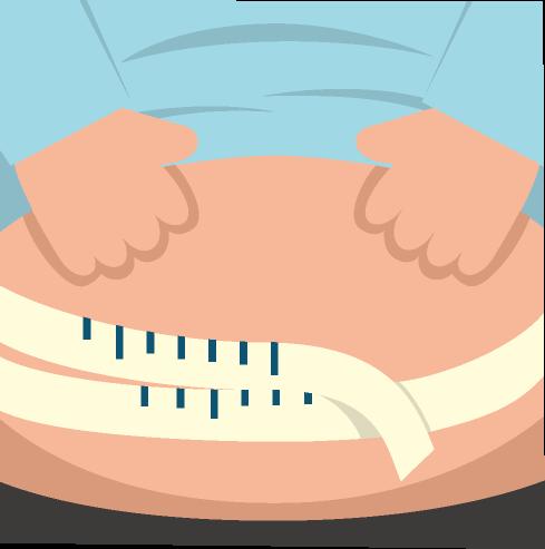 腹囲計測のイラスト