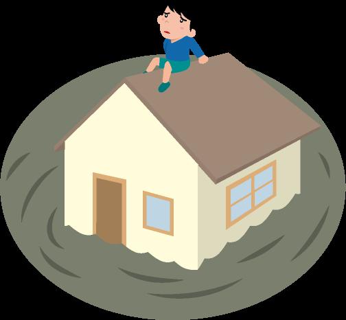洪水のイラスト
