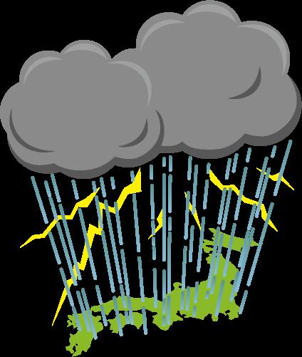 集中豪雨のイラスト
