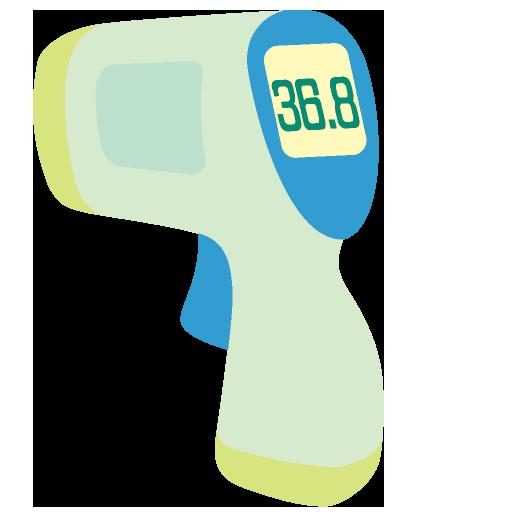 非接触体温計のイラスト