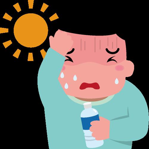熱中症で頭痛