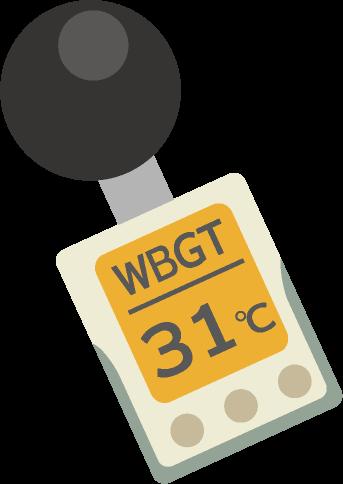 暑さ指数計のイラスト