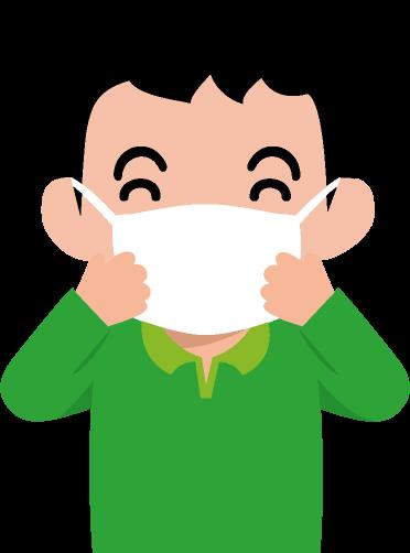 マスク着用のイラスト