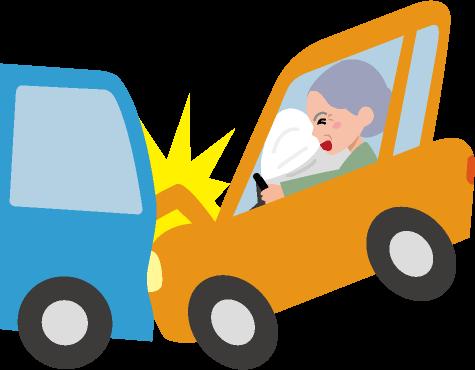 追突事故のイラスト